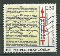 FRANCE Oblitéré 2605 Déclaration Des Droits De L'homme - Gebraucht