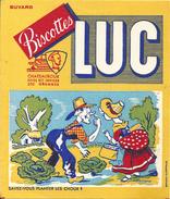 """Buvard Biscottes LUC Chateauroux   """"Savez Vous Planter Les Choux"""" - Biscottes"""