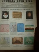 1855 Gravures  Du Journal Pour Rire: Le SALON Dépeint Et Dessiné Par BERTALL; La 1ère Voiture; La TAPOTOPATHIE; Etc - Vieux Papiers