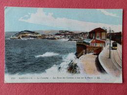 Dep 13 , Cpa MARSEILLE , 170 , La Corniche , Les Bains Des Catalans (601) - Endoume, Roucas, Corniche, Strände