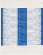 ISRAEL 2010 ATM FLAG MENORAH TEL AVIV YAFO POSTAL SERVICE SHEETLET - Viñetas De Franqueo (Frama)