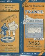 Carte MICHELIN N° 53 : ARRAS-MEZIERES - 1 / 200 000ème - 1927. - Roadmaps