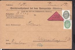 Deutsches Reich Dienstmarken Stempel Nürnberg 1928 Nachnahme - Allemagne