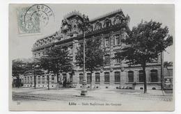 (RECTO / VERSO) LILLE EN 1906 - N° 39 - ECOLE SUPERIEURE DES GARCONS - BEAU CACHET - CPA VOYAGEE - Lille