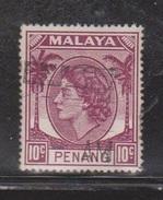 PENANG Scott # 35 Used - QEII Definitive Issue - Penang