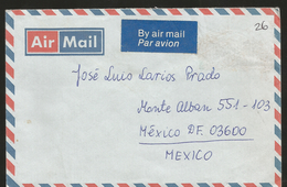 J) 1989 ENGLAND, AIRMAIL, CIRCULATED COVER, FROM ENGLAND TO MEXICO, XF - 1952-.... (Elizabeth II)