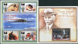 Aitutaki 2000. Michel #767/70 (Klb)+Bl.#84 MNH/Luxe. OG Sydney-2000. (Ts10)