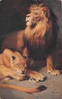 CPA - Illustration Lion Lionne - Lions