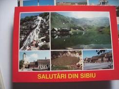 Roemenië Romania Rumenien Sibiu Salutari In Red - Roemenië
