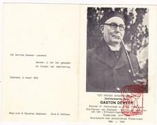 DP Foto ZEH Oudstrijder 1914-18 Pastoor Gaston DEWEER Waregem Dadizele Moorslede Dadipark - Steelpijp - Devotion Images