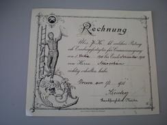 Chimney Sweep Rechnung 1911 - Facturas & Documentos Mercantiles
