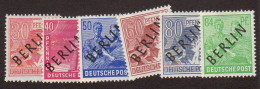 BER SC #9N11-16 MNH 1948 German Defins. W/ovprt (B), CV ~$37.30 - Unused Stamps