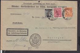 Deutsches Reich Dienstmarken Stempel Herrenberg 1921 Geprüft.. - Lettres & Documents