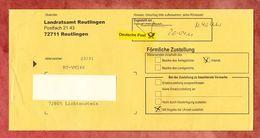 Foermliche Zustellung, Landratsamt Reutlingen, Nach Lichtenstein 2011 (37161) - BRD
