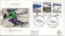 ANDORRA:  Stations De Ski En ANDORRE (Pas De La Casa,Ordino,La Massana)  FDC - FDC