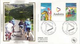 ANDORRA:  Le Cyclisme En ANDORRE .  FDC  (Série Touristique) - Ciclismo