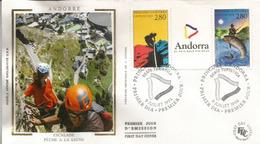 ANDORRA:  L'escalade En ANDORRE .  FDC  (Série Touristique) - Climbing