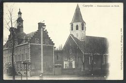 +++ CPA - KAPRIJKE - CAPRYCKE - Gemeentehuis En Kerk   // - Kaprijke