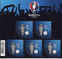 BLOC UEFA EURO 2016 TIMBRES A 1.00 EURO - Neufs