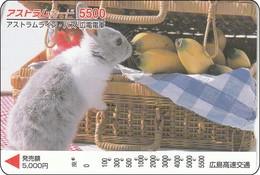 Japan  Prepaidcard Kaninchen Rabbit - Konijnen