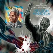 CENTRAFRICAINE 2014 SHEET NELSON MANDELA NOBEL PRIZE Ca14321b - Central African Republic