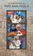 CENTRAFRICAINE 2015 SHEET POPES JOHN PAUL II PAPE JEAN PAUL POPE PAPES MOTHER TERESA MERE RELIGION Ca15103a - República Centroafricana