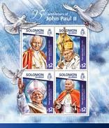 SOLOMON ISLANDS 2015 SHEET POPE JOHN PAUL II PAPE JEAN PAUL PAPA JUAN PABLO POPES PAPES PAPAS RELIGION Slm15114a - Salomon (Iles 1978-...)