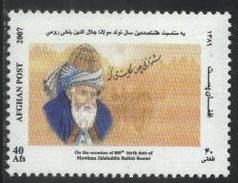 2007 Afghanistan Moulana Jalaluddin Balkhi Roomi Poet And Writer (1v) MNH (M-392)