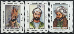 2007 Afghanistan National Unity, King, Sultan Mahmood Ghaznawi, Mirwais Nika, Ahmad Shah Baba (3v) MNH (M-392)