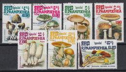KAMPUCHEA 576-82 (0)  – Paddenstoelen Champignons Mushrooms (1985) - Kampuchea
