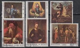 Panama 446-48 + LP/PA 421-23 (0) – Peintures Rembrandt Ingres Etc (1967) - Panama