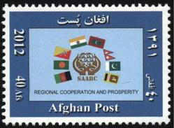 2012 Afghanistan SAARC Flags Of Bangladesh, India, Sri Lanka, Bhutan, Maldives, Nepal, Pakistan (1v) MNH (M-392)