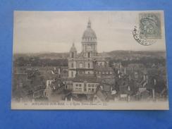 62-BOULOGNE SUR MER L'église Notre Dame , Circulée En 1905 , Dos Vert - Châteaux D'eau & éoliennes