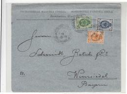 1895 RUßLAND In POLEN Brief Glasfanrik SOSNOWICE Nach WIMSIEDEL (Deutschland) Kp2+7+1-g486 - 1857-1916 Imperium