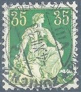 Helvetia Mit Schwert 111z, 35 Rp.grün/orange  ZÜRICH  (geriffelt)       1933 - Switzerland