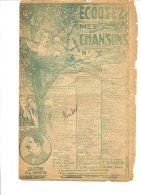 Ecoutez Mes Chansons N° 7 - Collection F.L. Bénech - Copyright 1921 - Chant Soliste