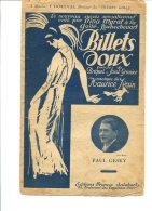 Billets Doux. - Editons Francis Salabert - Copyright 1921 - Chant Soliste