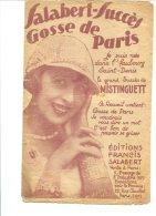 Mistinguett - Editons Francis Salabert - Copyright 1924 - Chant Soliste