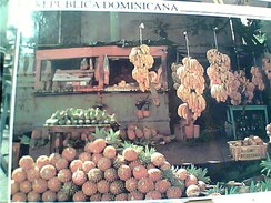 REP DOMINICANA SANTO DOMINGO FRUTTA FRUTAS   MARKET BANANA ANANAS VB1996 GC13695 - Repubblica Dominicana