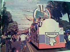 REP DOMINICANA SANTO DOMINGO CARROZA CARNAVAL LOS JUEGOS CENTROAMERICANOS N1986 GC13696 - Repubblica Dominicana