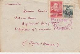 ESPAÑA 1937   Carta Con Matasello De La DIVISION CARLOS MARX  PARQUE MOVIL    Hasta  Division Ascaso   EL535