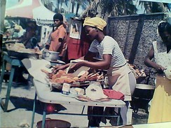 REP DOMINICANA FRITTURA  IN SPIAGGIA FREIDURIA A LA PLAYA  N1986 GC13698 - Repubblica Dominicana