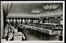 503-GERMANY Postcard Fährschiff-Ferry Boat-traversier DEUTSCHLAND Kaltes Buffet-cold Buffe-buffet Froid Ca 1935 - Ferries