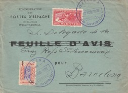 ESPAÑA  1938   Carta Con Matasello  OFICINA DE CORREOS 28 DIVISION   EL538