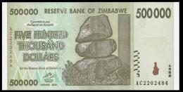 Zimbabwe 500000 Dollars 2008 P 76 UNC ( Zimbabue  ) - Zimbabwe