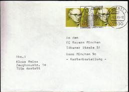 Germany Rastatt 1985 / Europastadt - Barockstadt / European City - Baroque Town  / EU Flag / Machine Stamp - Cultures