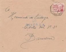 ESPAÑA  1938   Carta Con Matasello Ambulante LA CAVA -TORTOSA 60 DIVISION 84 BRIGADA   EL540 - 1931-Hoy: 2ª República - ... Juan Carlos I
