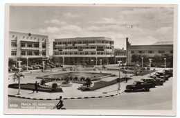 MOCAMBIQUE/MOZAMBIQUE - BEIRA PRACA DO MUNICIPIO/MUNICIPAL SQUARE/OLD CARS / THEMATIC STAMP-COAT OF ARMS - 1965 - Mozambico