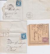 COLL Belege Frankreich France Klassik Ceres 1871-74 SLG - Timbres