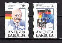 Barbuda Mail 1993,2V,Nato,Adenauer,flags,banners,vlaggen,drapeaux,flaggen,MNH/Postfris(A3214) - Postzegels